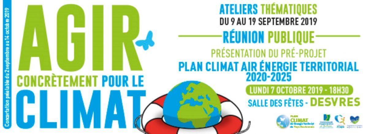 Plan climat, ateliers thématiques et réunion publique