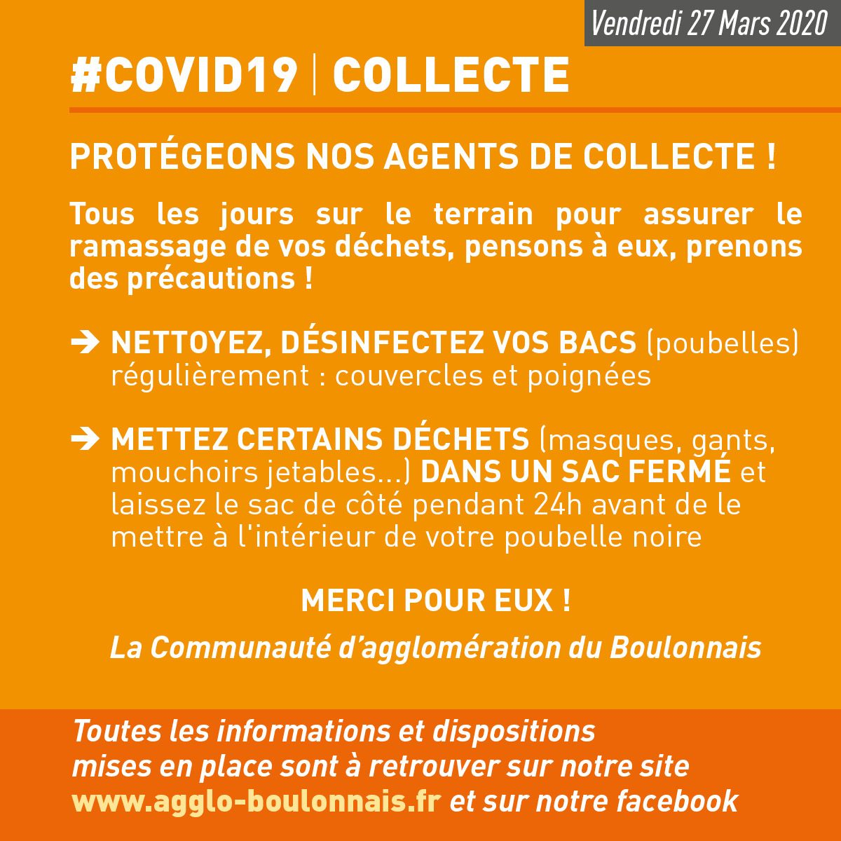 #COVID19 COLLECTE
