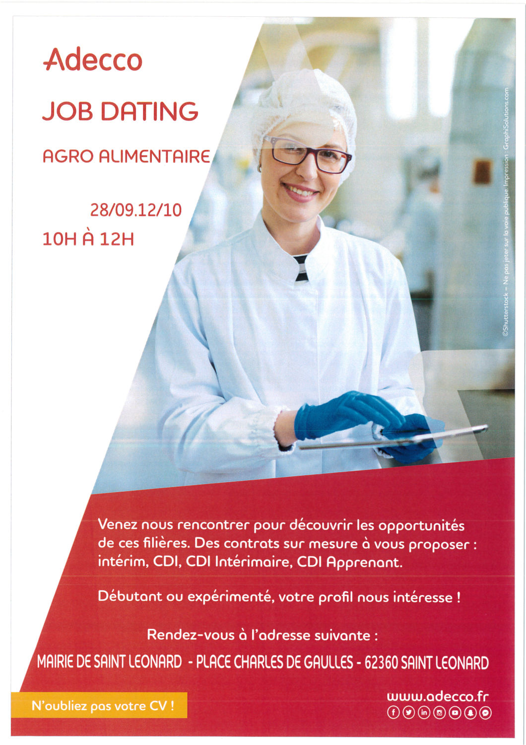 JOB DATING ADECCO AGRO ALIMENTAIRE