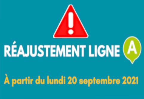 RÉAJUSTEMENT LIGNE «A» À PARTIR DU 20 SEPTEMBRE À DESTINATION DE «STATION LIANE» ET «LA PLAGE»